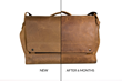 Rough Rider Leather Laptop Messenger — develops a beautiful patina over time