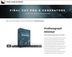 ProParagraph Minimal - FCPX Tools - Pixel Film Studios