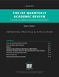 "The Incentive Research Foundation Releases First Issue of ""The IRF Quarterly Academic Review"""