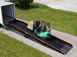 Copperloy Improves Freight Loading/Unloading Production with their New Yard Ramp, a Portable Mobile Loading Ramp