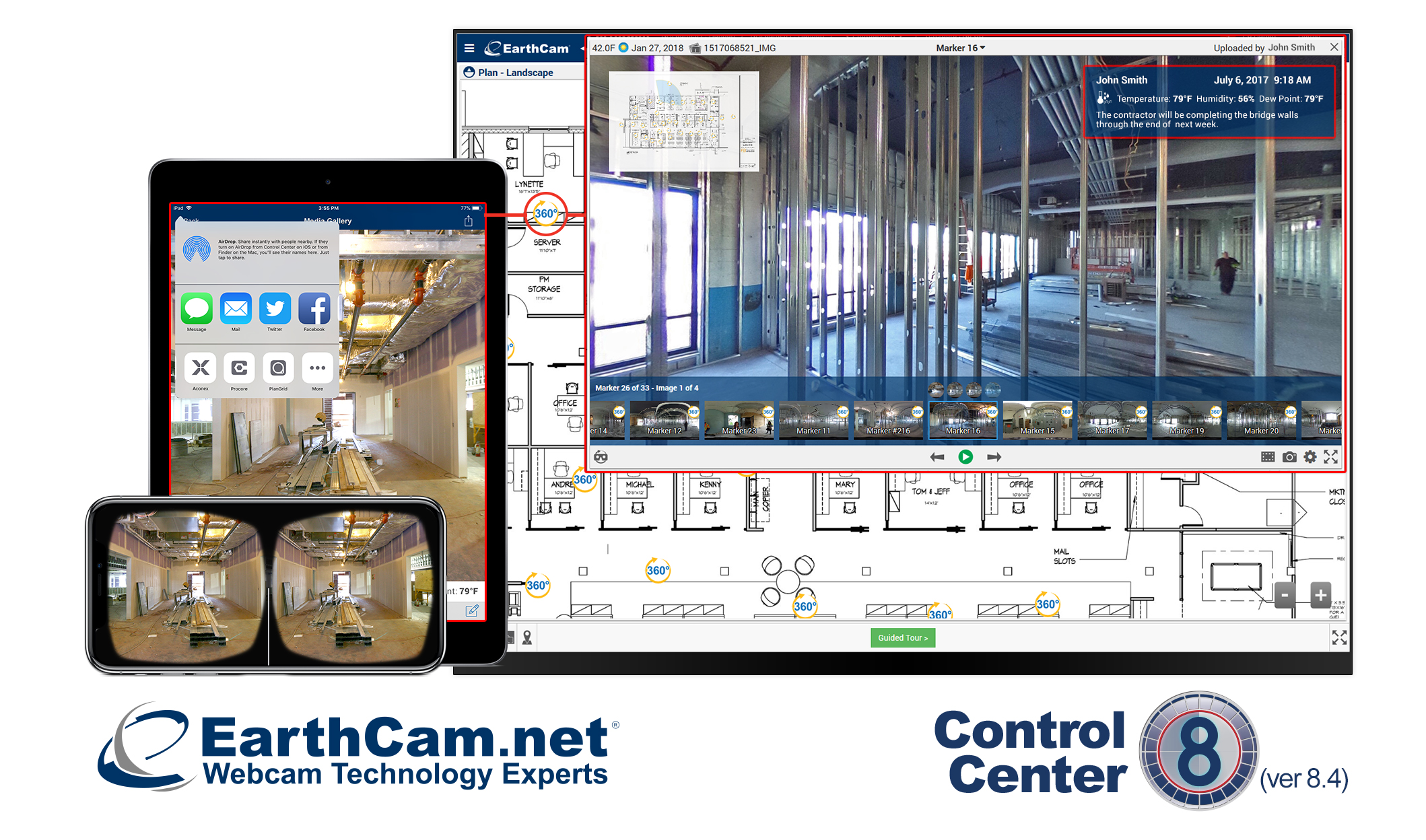 Earthcams control center 8 launches new construction camera the update to earthcams popular software features technological advancements for increasing jobsite productivity and faster generation of high quality gumiabroncs Gallery