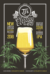 Tj's & Claim 52 Beer Release Poster