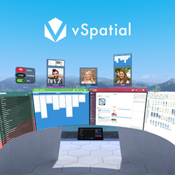 Picture of vSpatial room in a call.