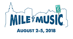 Mile of Music - August 2-5, 2018, in Appleton, Wisconsin