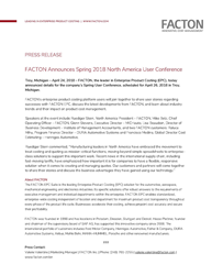 FACTON, the leader in Enterprise Product Costing (EPC), announces details for the company's Spring User Conference, scheduled for April 26, 2018 in Troy, Michigan.