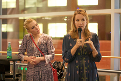 "Mother-Daughter Filmmaking team Madelyn Deutch and Lea Thompson speak about their film "" A Year of Spectacular Men"" at the 2017 Film Festival of Columbus"