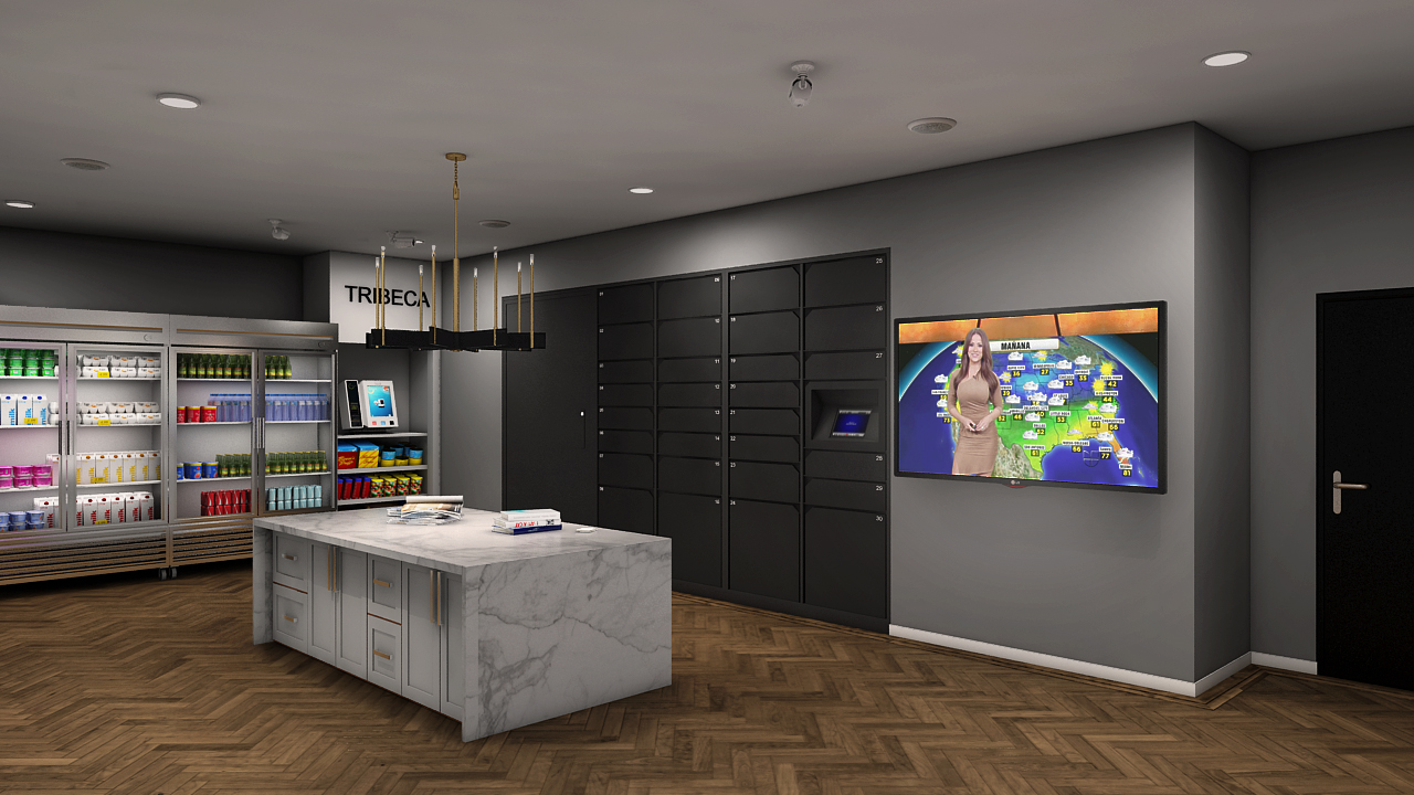 Tribeca Offers Luxer One Package Lockers As Part Of Mail