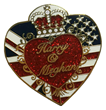 A Royal Fan Exclusive - Posh Pin Commemorates the British-American Union of Prince Harry and Meghan Markle