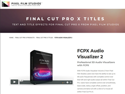 FCPX Audio Visualizer 2 - FCPX Tools - Pixel Film Studios