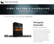 Pixel Film Studios Releases ProLayout Cinematic for Final Cut Pro X.