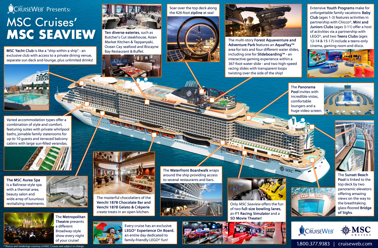Explore Msc Cruises Newest Cruise Ship Msc Seaview With