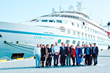 The Korean government delegation enjoyed a reception aboard Windstar's Star Legend von her maiden call to the Port of Busan; the ship's itinerary retraced SS Meredith Victory rescue voyage.