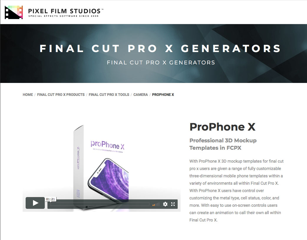 Pixel Film Studios Unveils Prophone X For Final Cut Pro X