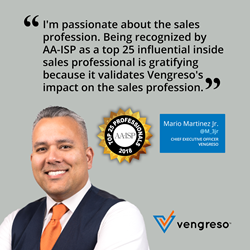 Mario Martinez Jr. CEO Vengreso - Top 25 Most Influential Inside Sales Professionals - AA-ISP