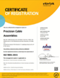 Precision Cable Assemblies is Ahead of the ISO 9001:2015 Certification Rush