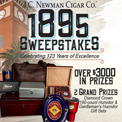 BestCigarPrices.com and J.C. Newman Sweepstakes image. Celebrating 123 years in business with over $3,000 in prizes.