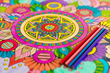 New Mandala Coloring Teambuilding Activity for Groups at Grand Velas Riviera Nayarit