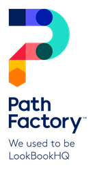 PathFactory logo with tagline: We used to be LookBookHQ