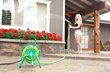 Yard Butler Handy Reel for kink-free, tangle-free hose storage