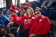 Caregivers at the Phillies game for Caregiver Appreciation Day