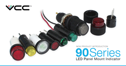 The 90 Series LED panel mount indicators are unique because they deliver enhanced design flexibility through three termination styles: cartridge, bi-pin and wire leads. With superior construction, the 90 Series is designed for an extended life, as well as quick installation. These features provide customers and end users with the benefits of saving time during installation and maintenance — as replacements will be less frequent.