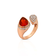 Toi & Moi fire opal and diamond ring Yael Designs