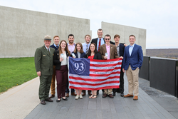 Washington & Jefferson College Professor David Kieran and his students join Steve Clark of the National Park Service at Flight 93 National Memorial.