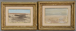 Pair of Brion Gysin (1916-1986) landscape watercolors, estimated at $2,000-4,000.