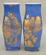 Pair of Sevres Mahieddine Boutaleb porcelain vases, estimated at $2,000-4,000.