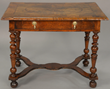 Queen Anne walnut veneered dressing table, estimated at $300-500.