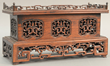 Chinese hardwood altar table top stand, estimated at $300-500.