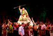2018 World Fireknife Champion Hale Motuapuaka crowned and honored during parade at the Polynesian Cultural Center's Pacific Theater