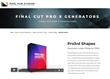 Pixel Film Studios Unveils Pro3rd Shapes for Final Cut Pro X