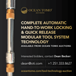 First Complete Automatic Hand-to-Work Locking and Quick Release Modular Tool System Technologies Available from Ocean Tomo Auctions