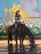 "Jackson Hole Fall Arts Festival Announces ""Teton Reflections"" Cowgirl Painting as 2018 Featured Artwork for September Wyoming Event"