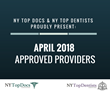 NY Top Docs & NY Top Dentists Proudly Present April 2018 Approved Providers
