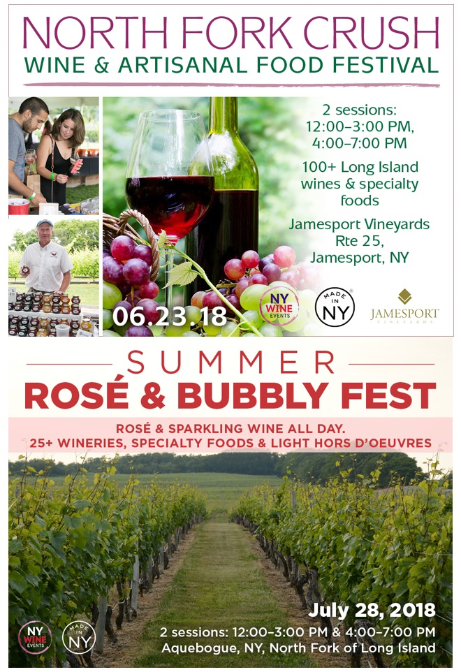 New York Wine Events to Host Two Summer Wine & Food Events