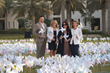 L-R- Simon Tibbs Head of Sales Operations UAE PSAV, Janet Abrahams Director Sales & Marketing Park Hyatt Abu Dhabi, Freya Jaffer Influencer and Counting Witness, Doris Hecht Hotel Manager Park Hyatt A