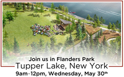 As part of Flanders Park transformation on Raquette Pond, New Energy Works Timberframers will raise the timber frame structure for a new bandshell. The community is invited to attend this traditional raising event.