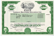 Original Lehman Brothers Holdings, Inc. and Bear Stearns Stock Certificates Are Now Being Offered by Scripophily.Com