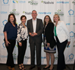 Amy Smith, Novocure, Inc.; Stephanie Shannon, Novocure Inc.; Ken Whitley, 2018 National HOPE Award Winner; Tracey Hanover, Novocure, Inc.; Dellann Elliott Mydland, Co-founder & President, EBCI