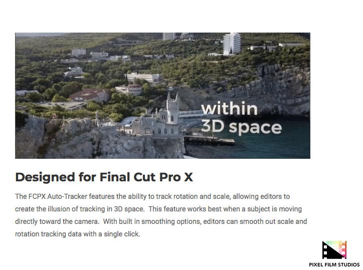 Pixel Film Studios Unveils FCPX Auto Tracker for Final Cut