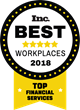 Mission Wealth Named One of Inc. Magazine's Best Workplaces for 2018