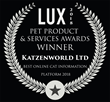 Katzenworld Receives Award as Part of 2018 Pet Product & Services Awards by LUX Magazine