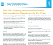 Nanomedical Diagnostics Releases Report on Field Effect Biosensing (FEB) Versus Isothermal Titration Calorimetry (ITC)