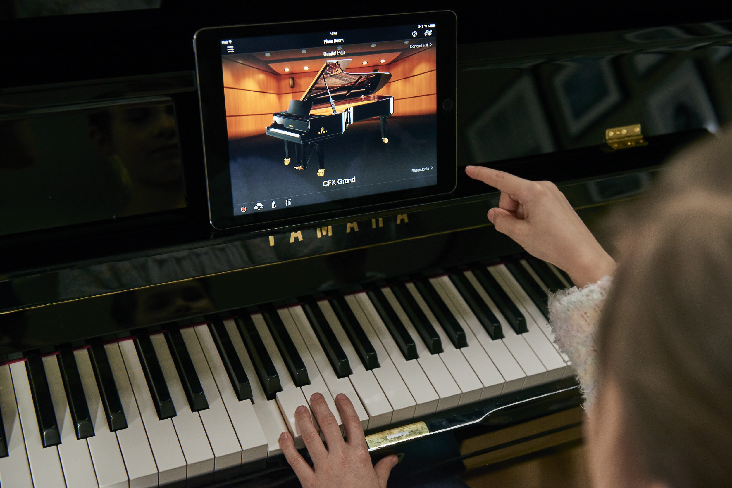 yamaha sh2 and sc2 represent the future of silent pianos. Black Bedroom Furniture Sets. Home Design Ideas