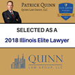 Park Ridge, Illinois, Attorney Patrick Quinn Receives 2018 Elite Lawyer Award for Personal Injury