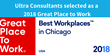 Ultra Consultants Named a 2018 Best Workplaces in Chicago by Great Place to Work® and FORTUNE