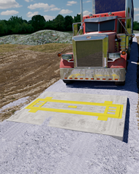 Preconfigured for easy installation, these dynamic weighing truck scales can be installed on a gravel driveway, eliminating the need for costly ramps.