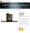 Pixel Film Studios Releases ProTrailer Awards for Final Cut Pro X